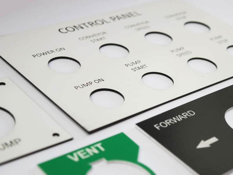 It is a graphic of Gorgeous Industrial Control Panel Label