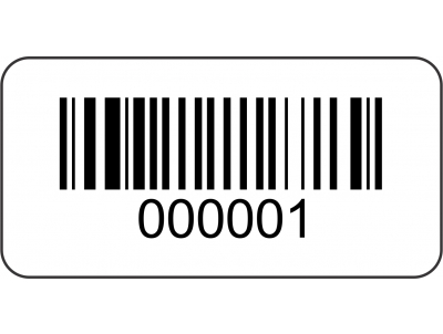 Pre Printed Barcode Asset Labels
