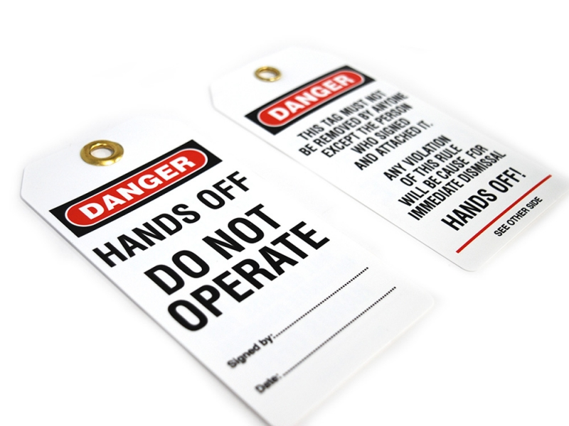 Stock 'Do Not Operate' Lockout Tags