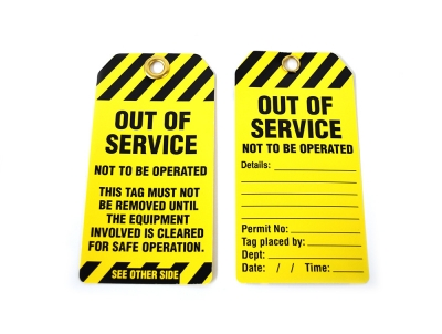 Stock 'Out Of Service' Lockout Tags