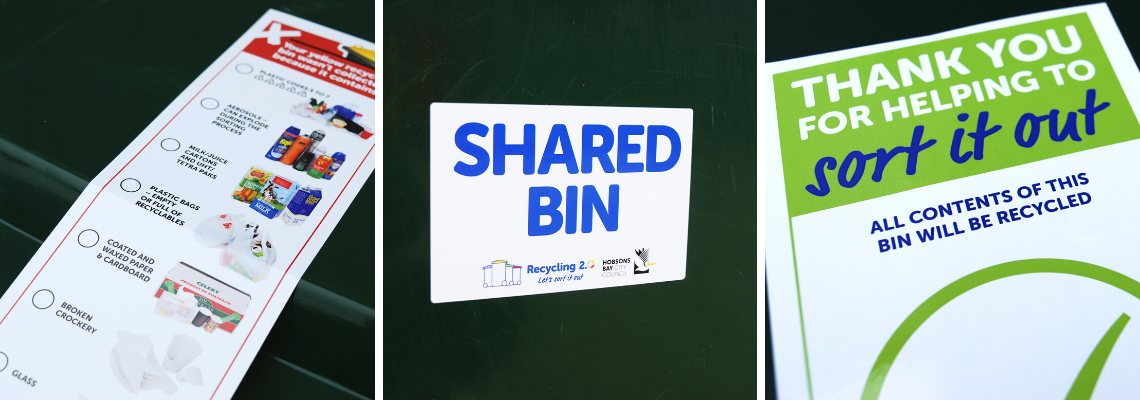 EXELPrint Recycling Bin Label Options
