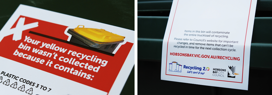 EXELPrint Recycling Bin Labels Hobsons Bay City Council